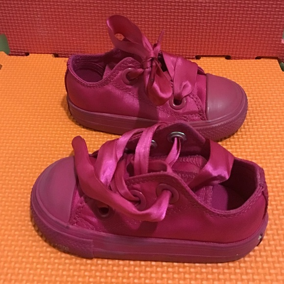 Pink Converse With Ribbon Laces